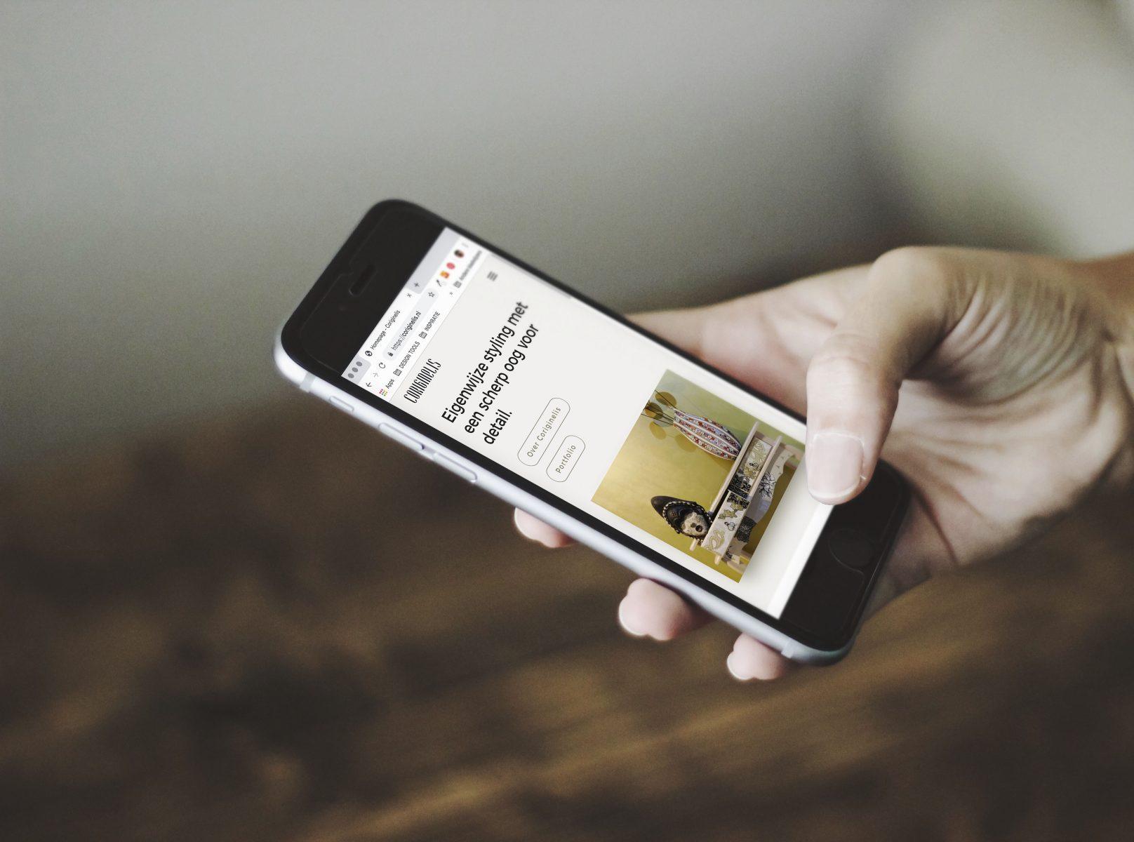 Een nieuwe website voor Coriginelis interieur en styling, helemaal responisve