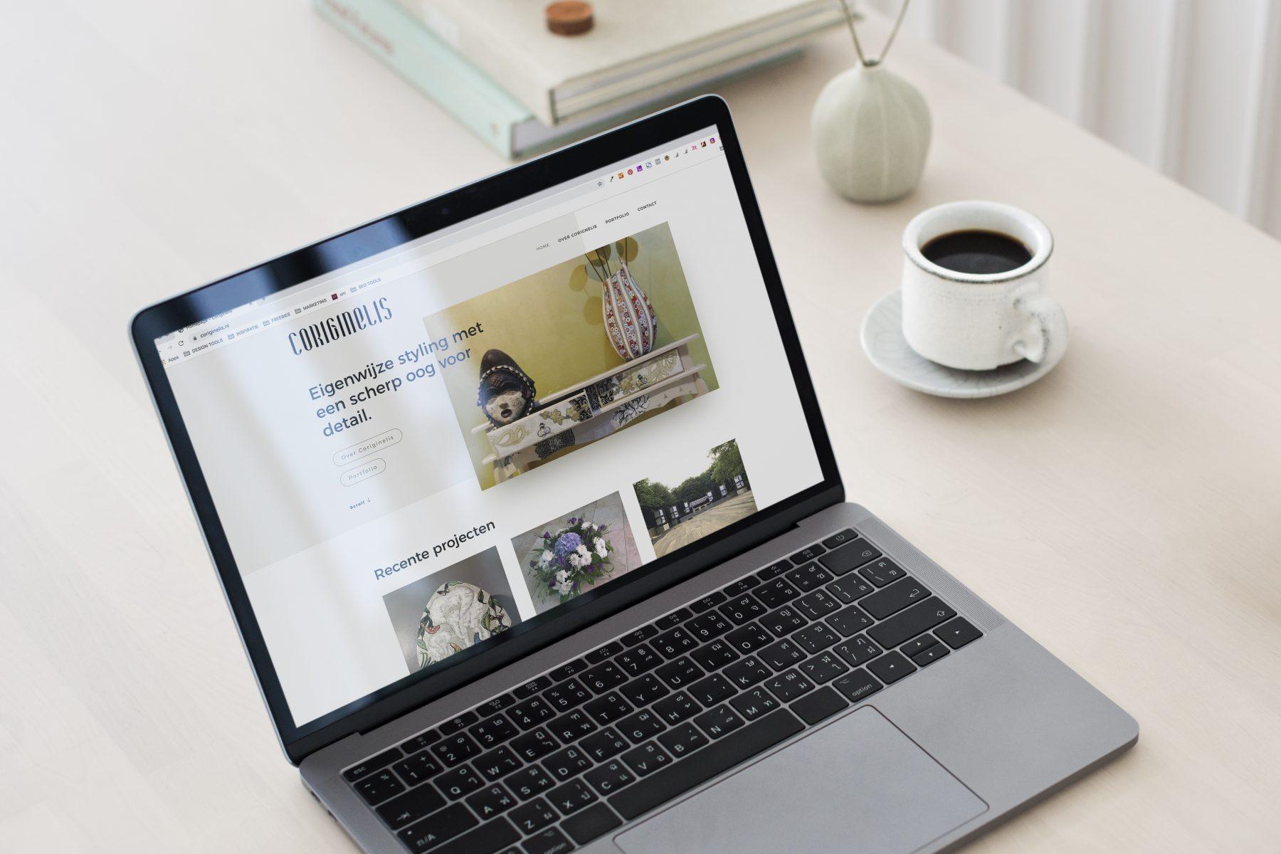 Een nieuwe website voor Coriginelis interieur en styling